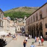 Dubrovnik old town architecture at Stradun main street — Stock Photo #52970321