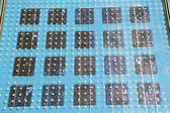 Paneles de energía solar batería celular en zadar, croacia — Foto de Stock
