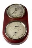 Temperature, humidity and air pressure measuring barometer — Stock Photo