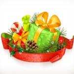 Christmas gifts vector — Stock Vector #67634191