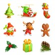 Christmas icon set — Stock Vector #67634255
