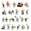 Business peoples set of icons flat design — Stock Vector #67634537