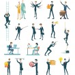 Business peoples, set of icons flat design — Stock Vector #67634541