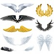 Wings, set vector illustrations — Stock Vector #67634615