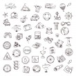 Travel and navigation, sketches of icons vector set — Stock Vector #67635045