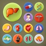 Medicine and Health, long shadow icon set — Stock Vector #67636649