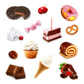 Confectionery, vector set 2 — Stock Vector