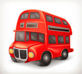 Red double deck bus, vector illustration — Stock Vector