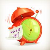 Wake up alarm clock icon — Stock Vector