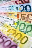 Various Euro banknotes — Stock Photo