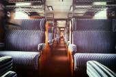 Last century rail car interior — Stock Photo
