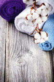 Multicolor bath towels — Stockfoto