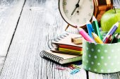 Colorful school supplies — Stock Photo