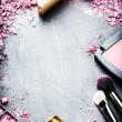 Frame with various makeup products — Stock Photo #52428653