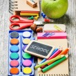 Colorful school supplies — Stock Photo #52428681
