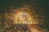 Old abandoned railway tunnel — Stock Photo