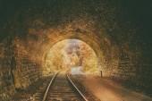 Old abandoned railway tunnel — Stock Photo