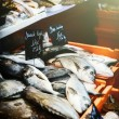 Fresh sea bream at fish market — Stock Photo #53804297