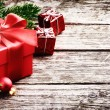 Christmas gifts in festive setting — Stock Photo #53804375
