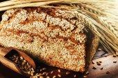 Closeup on traditional sesame bread — Stock Photo