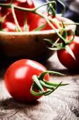 Fresh organic cherry tomatoes — Stock Photo