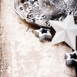 Christmas ornaments in silver tone — Stock Photo #54779809