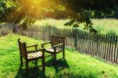 Two chairs exposed at sunlight — Stock Photo