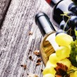 Red and white wine with fresh grape — Stock Photo #55565053