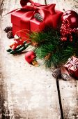 Christmas gifts in vintage setting — Foto de Stock