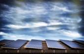 Alternative energy with solar panel system — Stock Photo