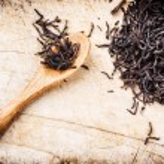 Closeup of dry black tea — Stock Photo #57296483