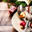 Christmas table setting — Stock Photo #57296495