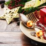 Christmas table setting — Stock Photo #57296529