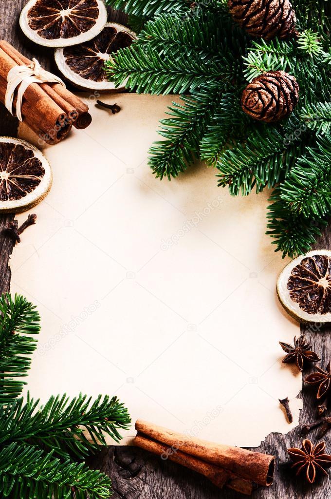 vintage weihnachten rahmen mit winter gew rze stockfoto paulgrecaud 57296543. Black Bedroom Furniture Sets. Home Design Ideas