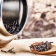 Closeup of dry black tea — Stock Photo #58245377
