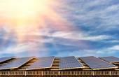 Alternative energy with solar panel — Stock Photo