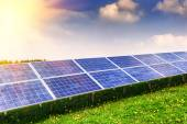 Solar energy field — Stock Photo