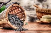Closeup of dry black tea — Stock Photo