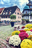 Small town center in Alsace — Stock Photo