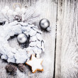 Festive background with Christmas wreath — Stock Photo #61312979