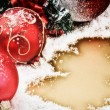 Christmas ornaments in red tone — Stock Photo #61313055
