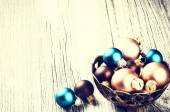 Various color Christmas balls — Stock Photo