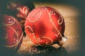 Vánoční ozdoby v červené tón — Stock fotografie