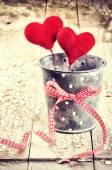 декоративные сердца в ретро стиле — Стоковое фото