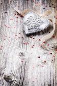 Dekorative Herzen im retro-Stil — Stockfoto