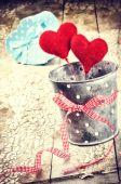 Decorative hearts in retro style — Fotografia Stock