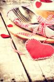St Valentine's table setting — Stock Photo