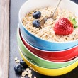 Healthy breakfast with cereal and fruits — Stock Photo #66043399