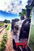 Historical steam engine train — Stock Photo