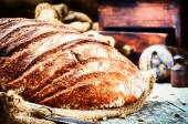 Freshly baked bread loaf — Stock Photo